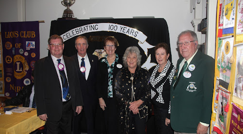 Narrabri Lions and guests at Saturday night's Changeover Dinner.incoming Narrabri Lions president Ross Campbell outgoing Lions president John McPherson, Lioness Chairperson Trish Johnson, Narrabri Shire mayor Cathy Redding, incoming Lioness president Kerrie Haire and district chairman Peter Willis-Jones.