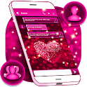 Glitter Love SMS Themes icon