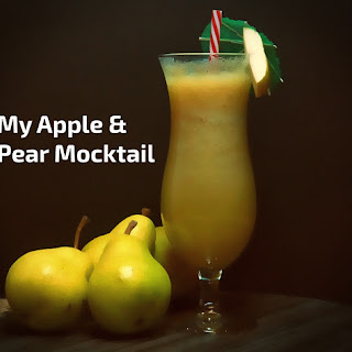 My Apple & Pear Mocktail.