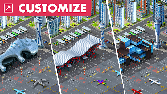 Airport City Mod Apk (Free Shopping) 7.24.17 3