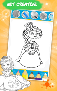 Shimmer Sofia The Princess Free Coloring book Game - náhled