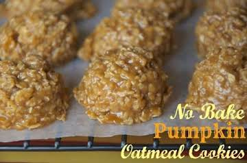No Bake Pumpkin Oatmeal Cookies