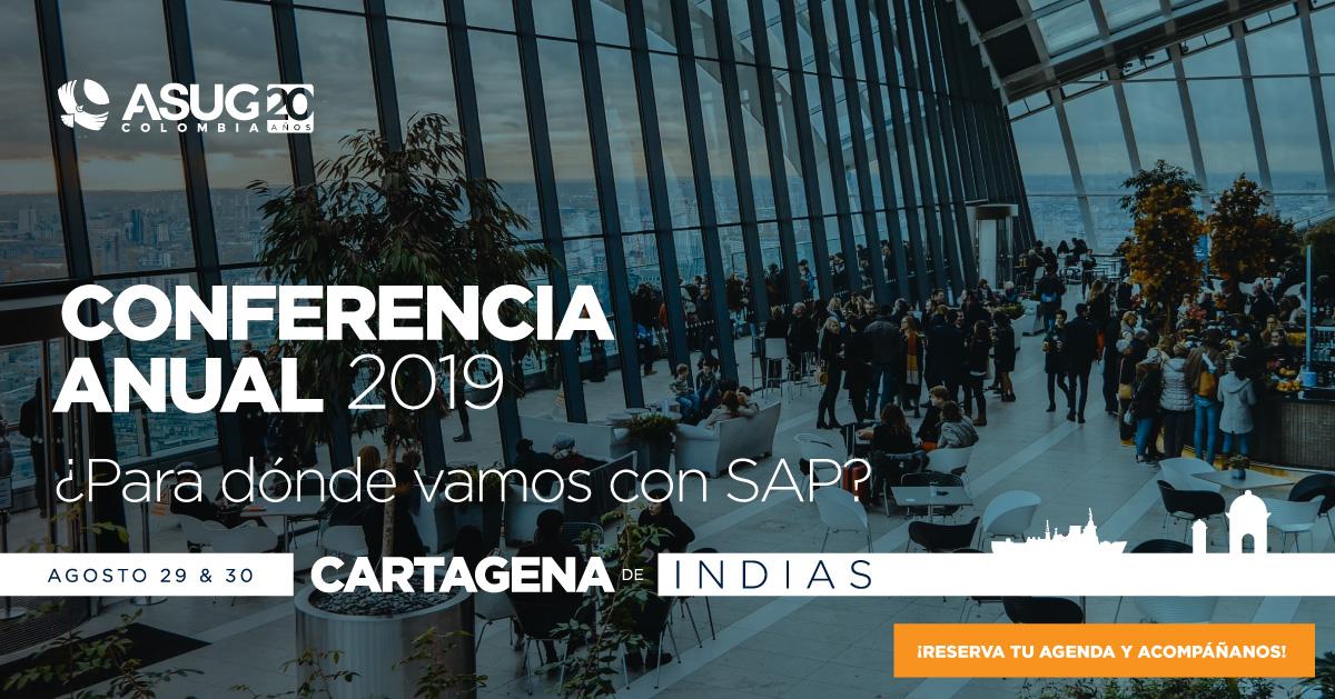 Por favor completa los siguientes datos para confirmar tu registro como Socio Patrocinador de la Conferencia Anual ASUG COLOMBIA 2019: