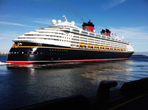 Disney-Magic-in-halifax-2012.jpg -  Disney Magic pulling away from the dock in Halifax, Nova Scotia.