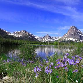 Glacier Park Two Medicine by Gerard Pascazio - Landscapes Mountains & Hills