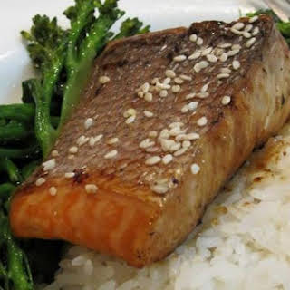 Teriyaki Salmon With Broccolini.