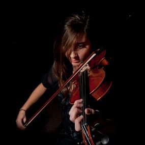 Alisha's Dream by Bill  Brokaw - People High School Seniors ( violin, musician, brokaw, senior )