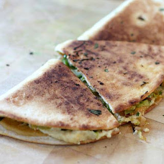 Smoky Toasty Vegan Quesadilla For One