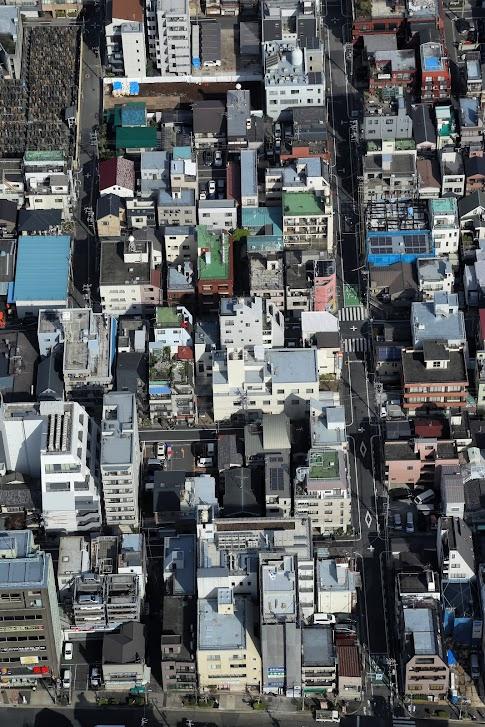 Widok za Skytree, Tokio, Japonia