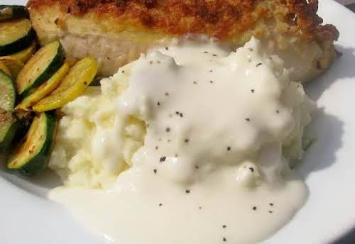 """Cream Gravy """"Sounds absolutely delicious I'm putting this on a list to..."""