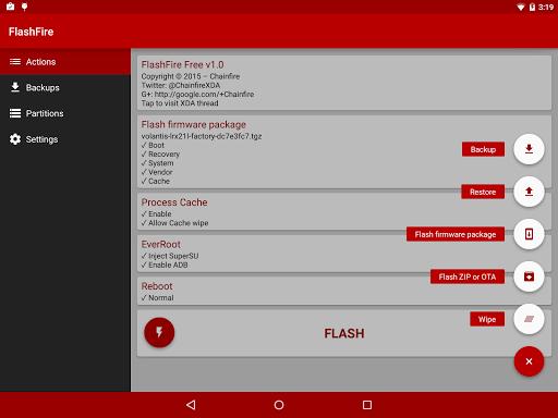 [root] FlashFire 0.73 screenshots 3