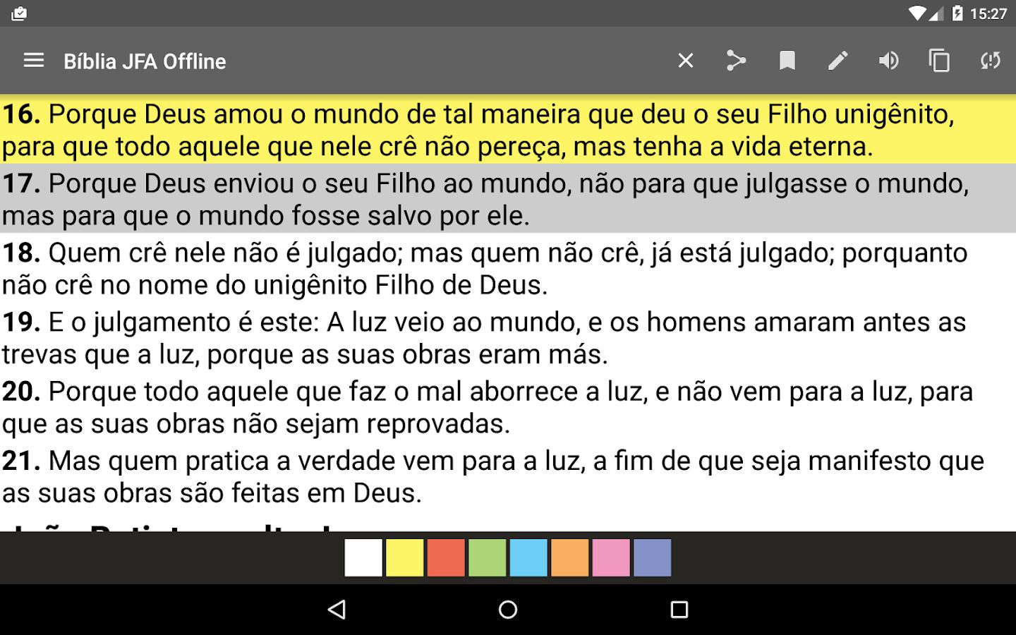 Bíblia JFA Offline: captura de tela
