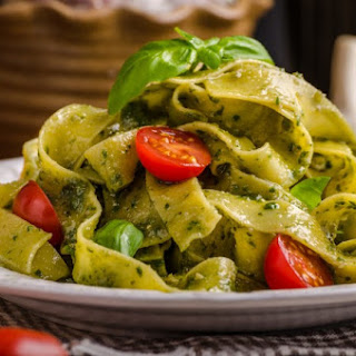 Pasta with Spinach Pesto.