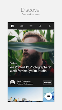 EyeEm - Photo Filter Camera APK screenshot thumbnail 1