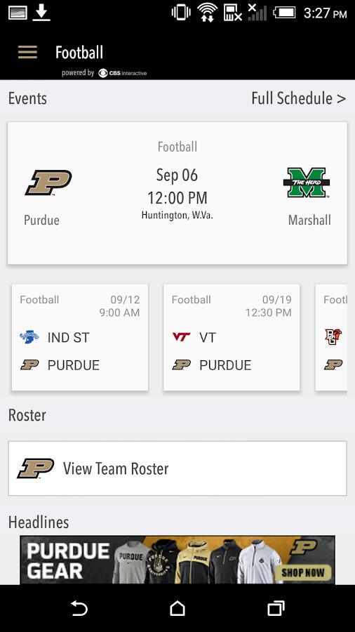 PurdueSports.com Gameday LIVE- screenshot