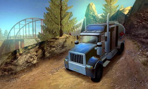 上り坂オイルトラックの駆動3D
