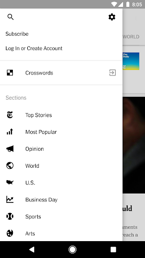 Screenshot 4 for The New York Times's Android app'