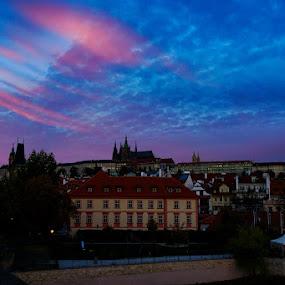 Prague Sunrise by VAM Photography - Buildings & Architecture Other Interior ( sunrise, places, weather, prague, clouds, travel )