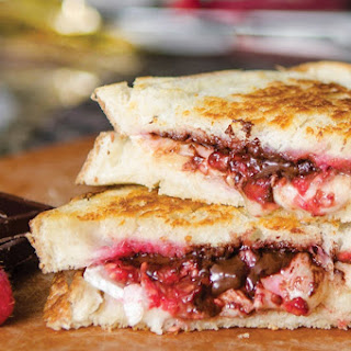 Dark Chocolate, Raspberry and Brie Grilled Cheese