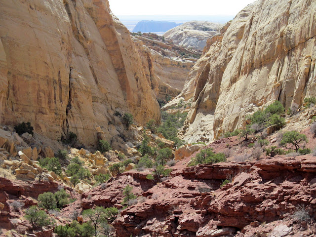 View down the short canyon