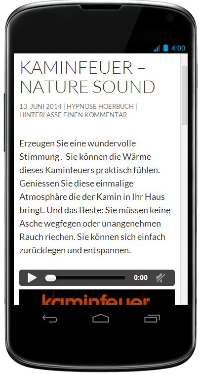 Kaminfeuer Sound- screenshot