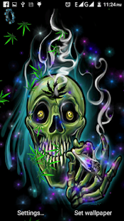 Falling Weed Live Wallpaper Skull Weed Live Wallpaper Android Apps On Google Play