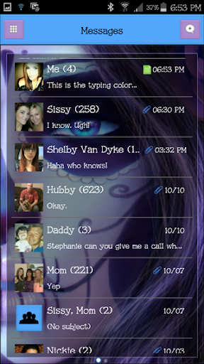 GO SMS THEME - SugarGirl