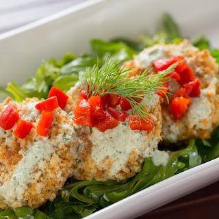 Feta Crab Cakes + Tzatziki Dressing