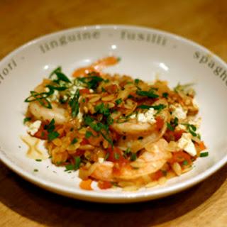 Baked Shrimp and Feta Pasta.