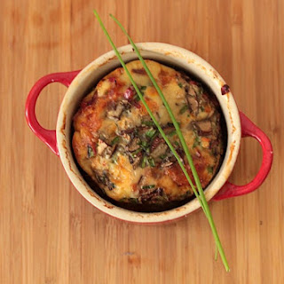 Smoky Chorizo and Chives baked Eggs in Pots
