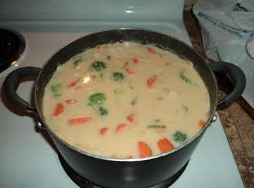 Reggie's accindental chicken soup