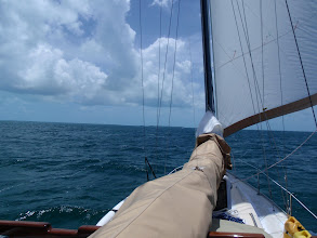 Photo: Little Sale Cay off the bow