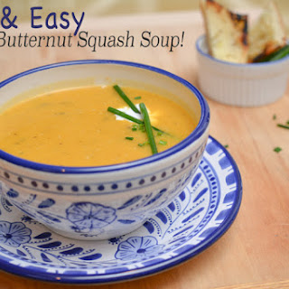 Fast & Easy Paleo Butternut Squash Soup!