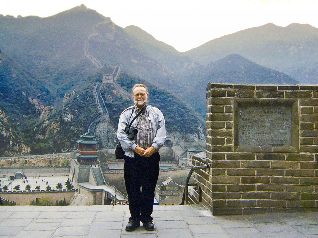 Photo: Me, standing on the Great Wall