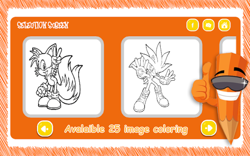 ColorMe Sonic Coloring Pages App Apk Free Download For Android PC Windows
