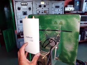 Photo: detalle del equipamiento microondas