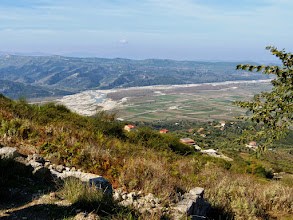 Photo: Byllis, view from the fortified city over the Aoos Valley