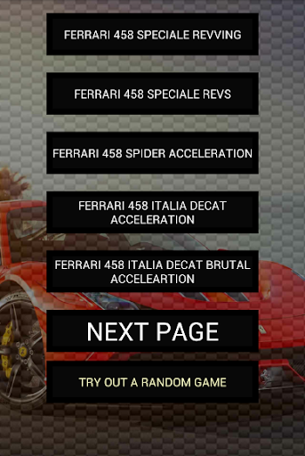 Engine sounds of 458