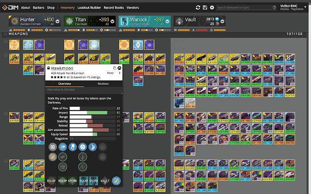 Destiny Item Manager Shortcut