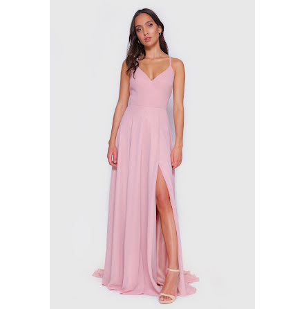 Chiffon Blake Open Back Dress