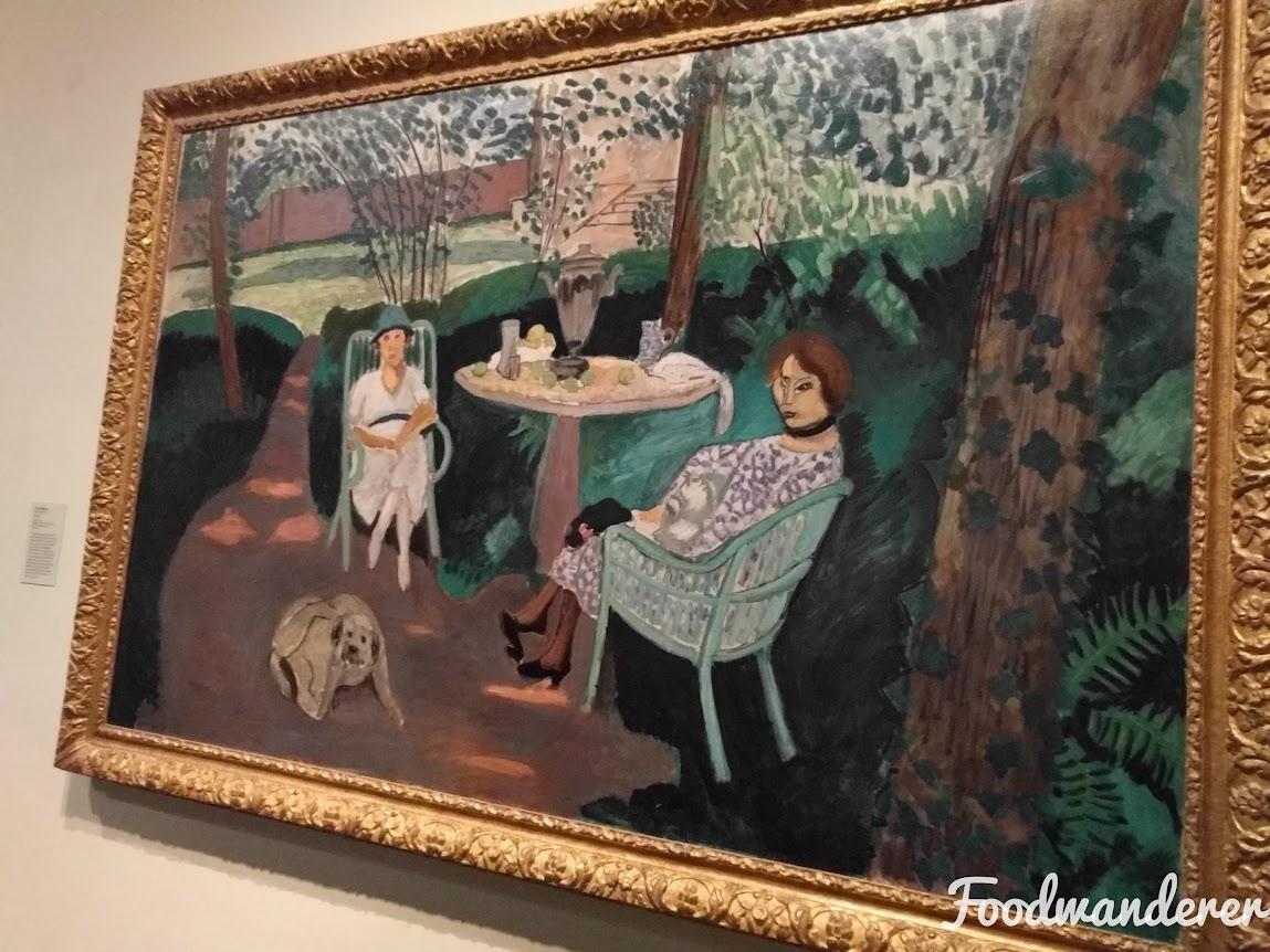 LACMA Painting of ladies and a dog in shade