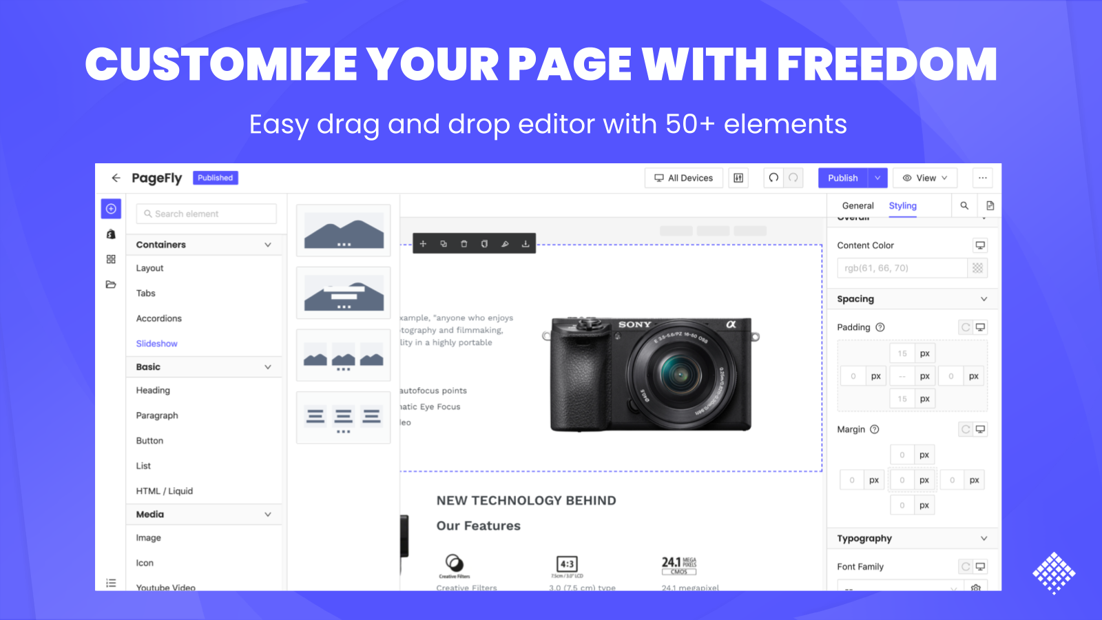 shopify page editor