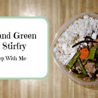 Turkey and Green Bean Stir Fry.