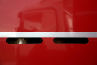 Photo: the sheep await (in the truck)