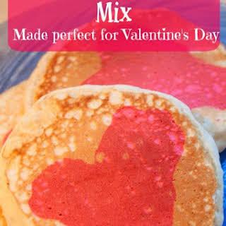 Homemade Pancake Mix   Valentine's Day Pancakes.