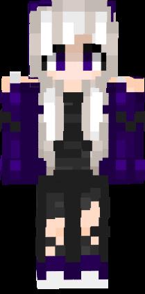 EmoPukachi Emo Purple Girl White Hair | Nova Skin