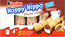Kinder Happy Hippo Cocoa Cream Biscuits - 5x20.7g