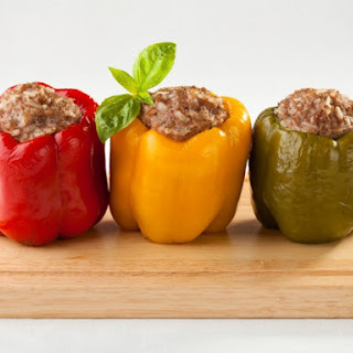 Pressure Cooker Stuffed Bell Peppers