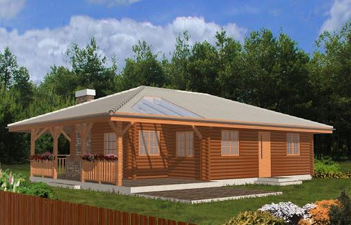 projekt Pogodny drewniany