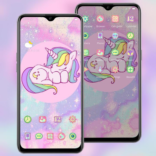 Pink shining galaxy unicorn sparkle theme 2.0.50 screenshots 2